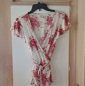 O'Neill floral wrap blouse